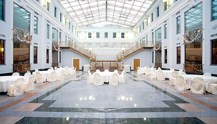 """Ресторан для свадьбы, банкетный зал """" Атриум в Толстом сквере"""" на Петроградской"""