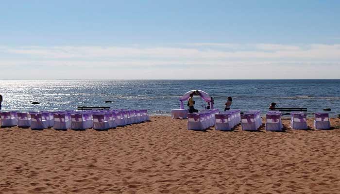 """Ресторан для свадьбы, банкетный зал """"Золотые Пески"""" на берегу Финского залива"""