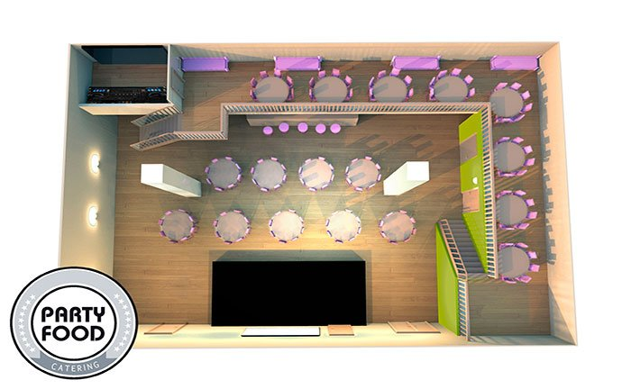 Ресторан для свадьбы, банкетный зал Пространство Острова ТЦ Питерленд