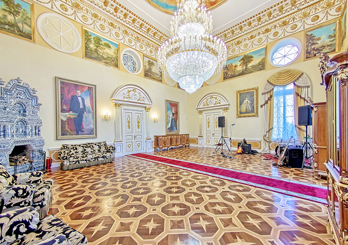 Ресторан для свадьбы, дворец Елизаветино в Гатчине
