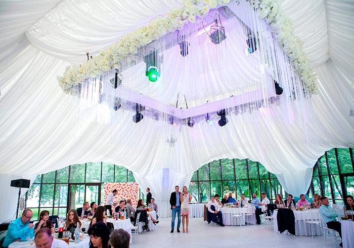 Загородный ресторан для свадьбы, шатёр Летний в Сестрорецке