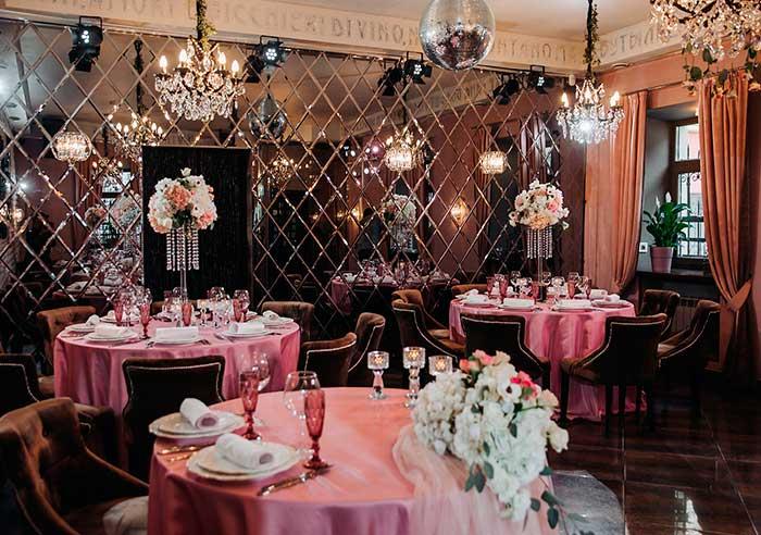 Ресторан для свадьбы, банкетный зал Винити / Vinity на Фурштатской