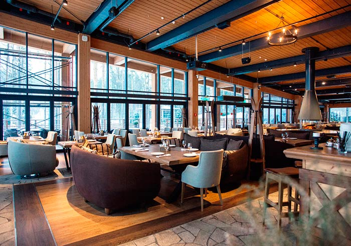 Загородный ресторан для свадьбы, банкетный зал Апрес Ски / Apres ski