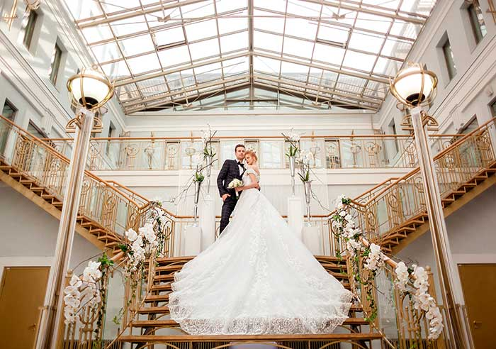 Ресторан для свадьбы, банкетный зал Атриум на Петроградской в Толстом Сквере